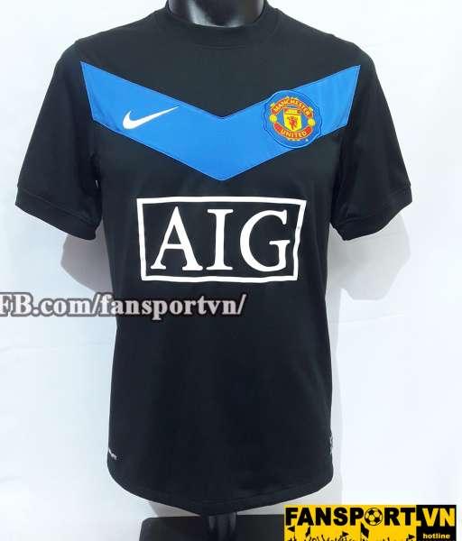 Áo đấu Rooney #10 Manchester United 2009-2010 away shirt jersey black