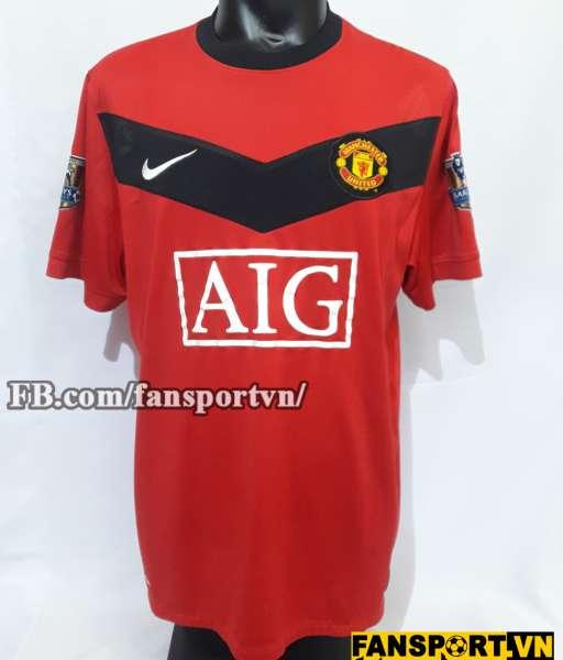 Áo đấu Rooney #10 Manchester United 2009-2010 home shirt jersey red