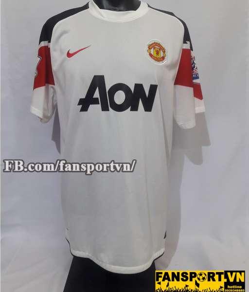 Áo đấu Rooney #10 Manchester United 2010-2012 away shirt jersey white