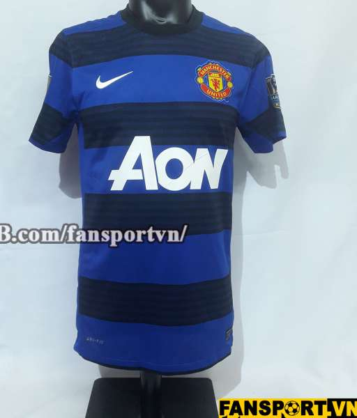 Áo đấu Rooney #10 Manchester United 2011-2012 away shirt jersey blue