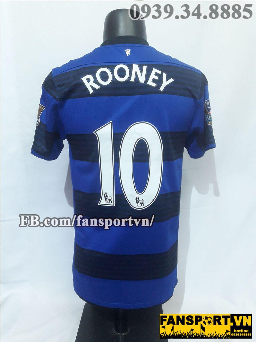Áo đấu Rooney #10 Manchester United 2011-2012 away shirt jersey blue