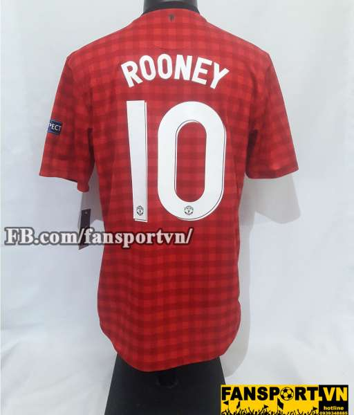 Áo đấu Rooney #10 Manchester United 2012-2013 home shirt jersey red