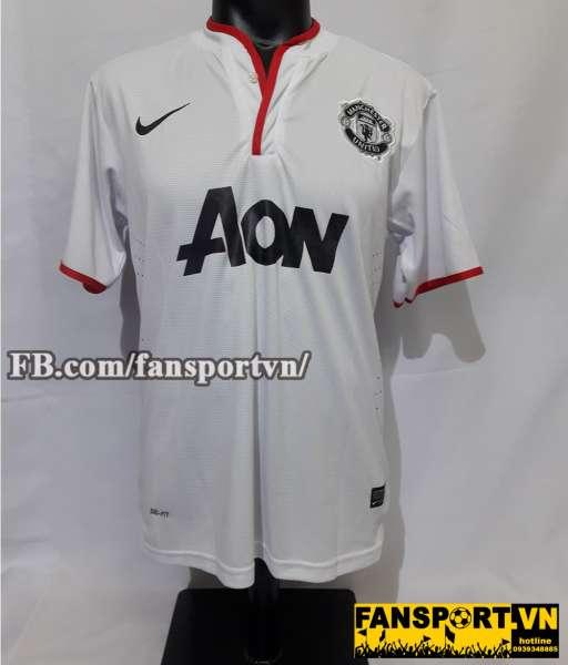 Áo đấu Rooney #10 Manchester United 2012-2014 away shirt jersey white
