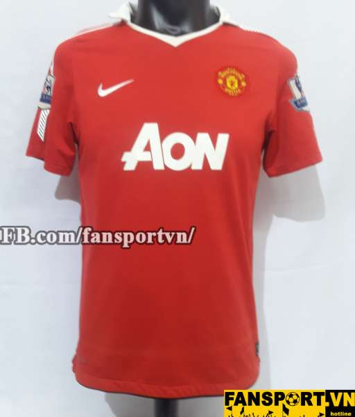 Áo đấu Scholes #18 Manchester United 2010-2011 home shirt jersey red