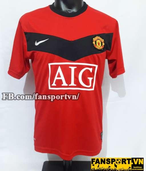 Áo chữ k Owen #7 Manchester United 2009-2010 home shirt jersey red