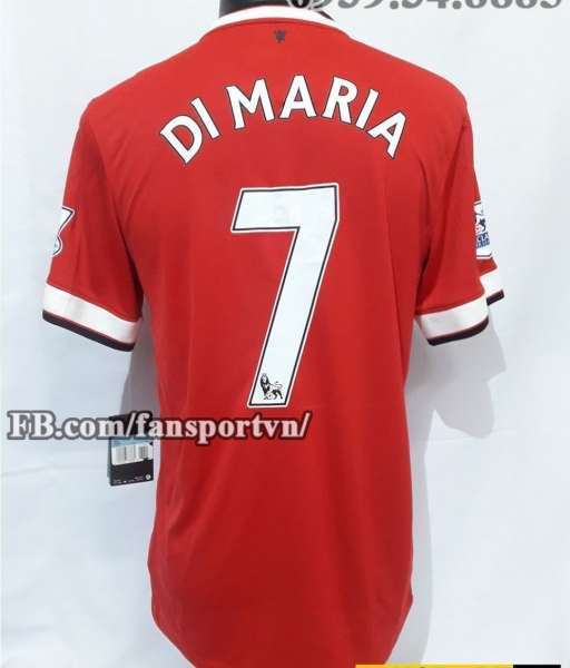 Áo đấu Di Maria #7 Manchester United 2014-2015 home shirt jersey red