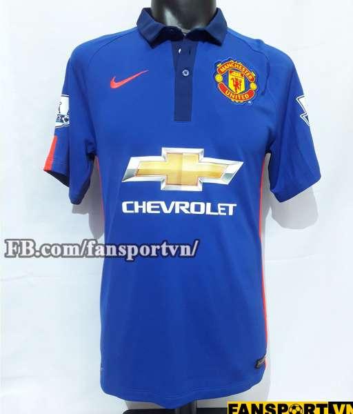 Áo đấu Di Maria #7 Manchester United 2014-2015 third shirt jersey blue