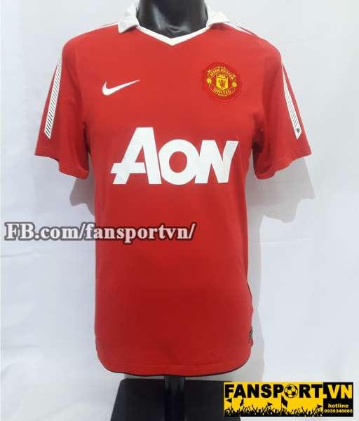 Áo đấu Scholes #18 Manchester United 2010-2011 home shirt jersey red
