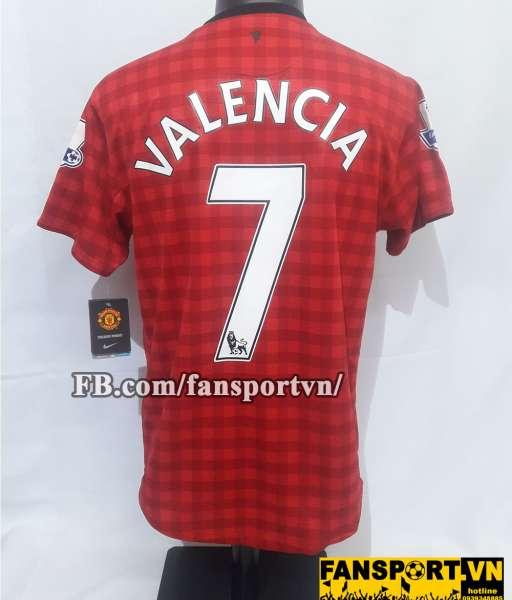 Áo đấu Valencia #7 Manchester United 2012-2013 home shirt jersey red