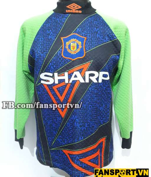 Áo Manchester United 1994-1996 home goalkeeper shirt jersey green
