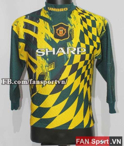 Áo Manchester United 1994-1997 third goalkeeper shirt green yellow