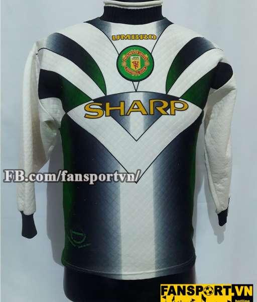 Áo Manchester United 1996-1998 away goalkeeper shirt jersey white