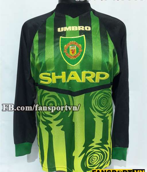 Áo Manchester United 1997-1998 home goalkeeper shirt jersey green