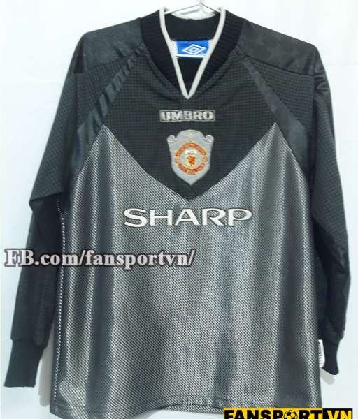 Áo Manchester United 1997-1999 home goalkeeper shirt jersey black