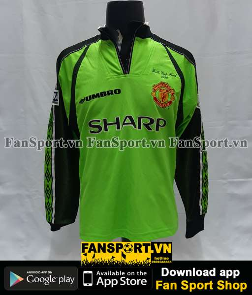 Áo Manchester United 1998-1999 home goalkeeper shirt jersey green