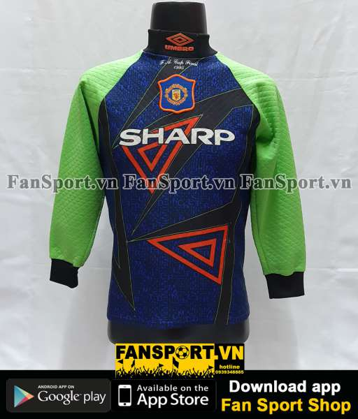 Áo Manchester United FA cup final 1995 goalkeeper shirt 1994-1996 GK