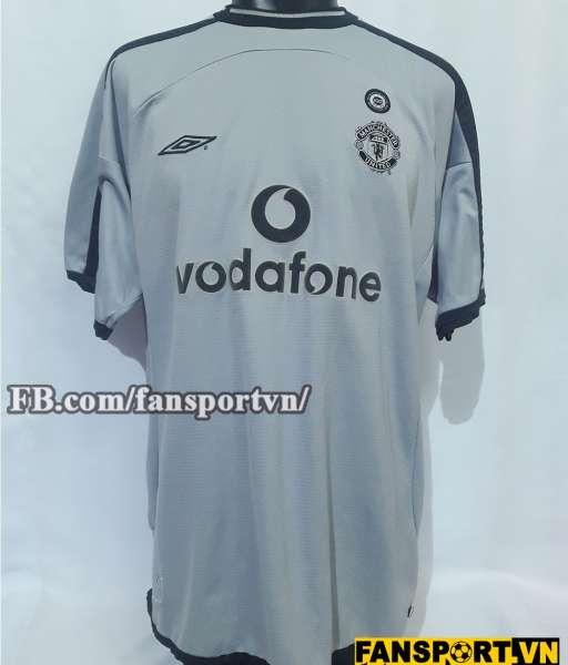 Áo Manchester United 2001-2002 home goalkeeper shirt jersey grey
