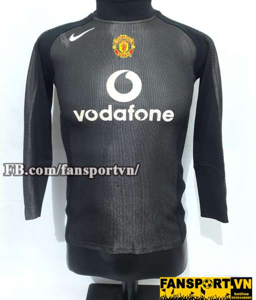 Áo Manchester United 2004-2006 away goalkeeper shirt jersey black