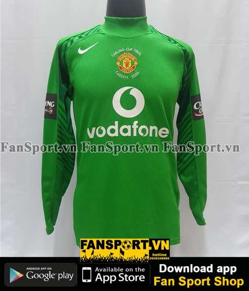 Áo Manchester United League Cup Final 2005 home goalkeeper shirt 2006