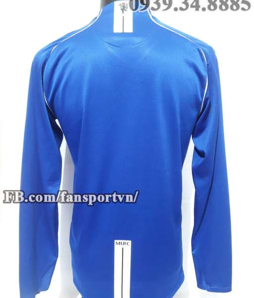 Áo Manchester United 2007-2008 home goalkeeper shirt jersey blue