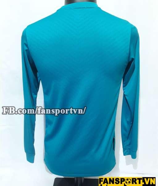 Áo Manchester United 2009-2010 away goalkeeper shirt jersey blue