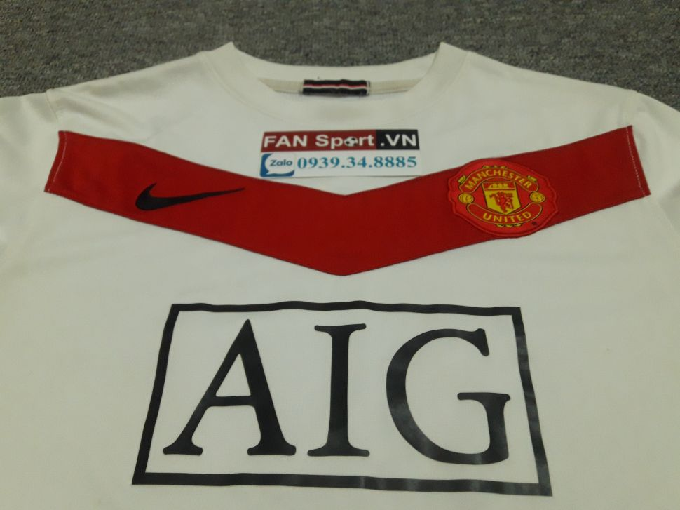 Áo Manchester United 2009-2010 home goalkeeper shirt jersey white