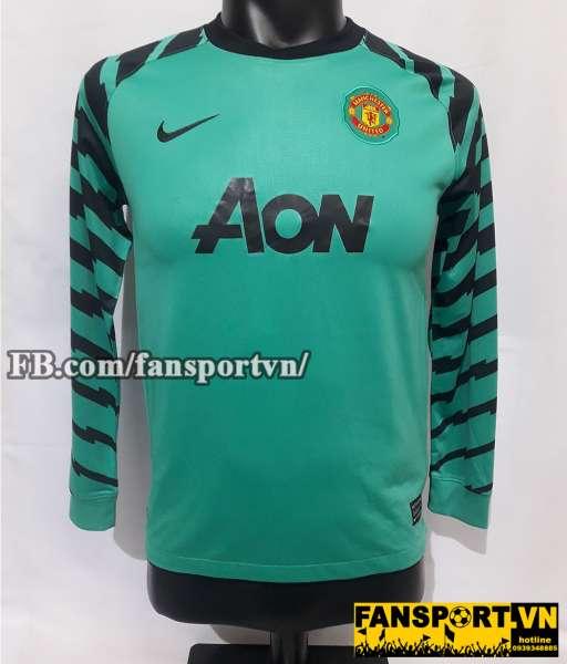 Áo Manchester United 2010-2011 away goalkeeper shirt jersey blue