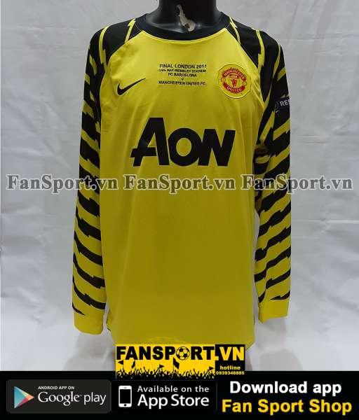 Áo Van Der Sar 1 Manchester United Champion League Final 2011 GK shirt