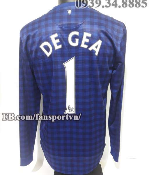 Áo De Gea #1 Manchester United 2012-2013 away goalkeeper shirt jersey