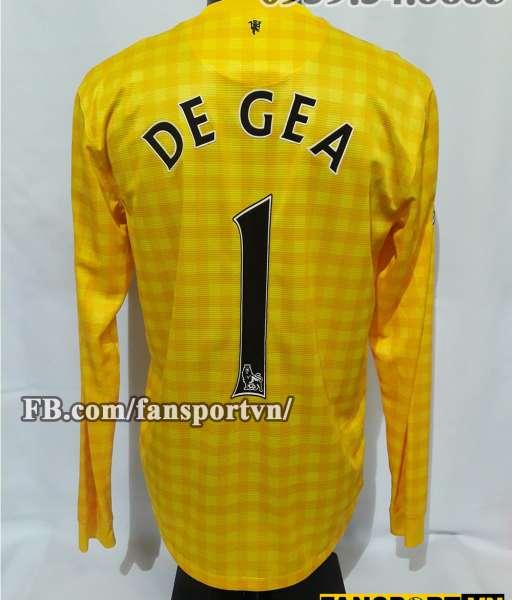 Áo De Gea #1 Manchester United 2012-2013 third goalkeeper shirt yellow