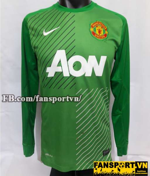 Áo De Gea #1 Manchester United 2013-2014 home goalkeeper shirt green