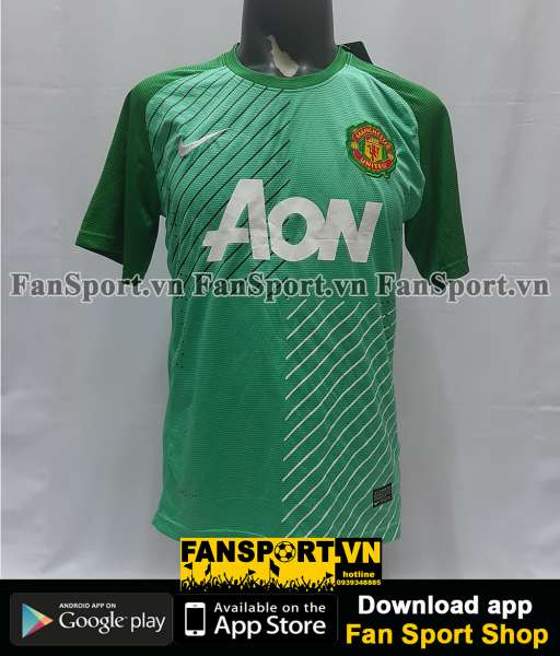 Áo GK Manchester United 2013-2014 home goalkeeper shirt jersey green