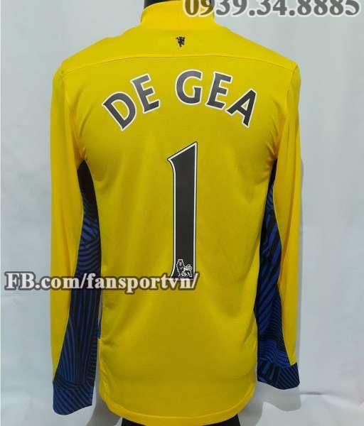 Áo De Gea #1 Manchester United 2011-2012 away goalkeeper shirt yellow