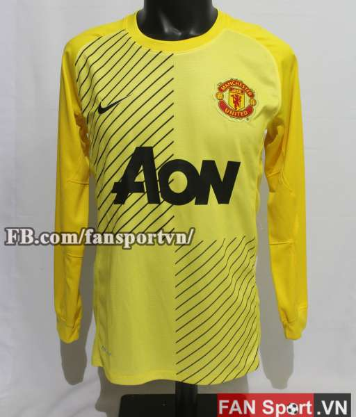 Áo De Gea #1 Manchester United 2013-2014 away goalkeeper shirt yellow