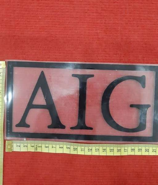 Decal black AIG sponsor logo fan version