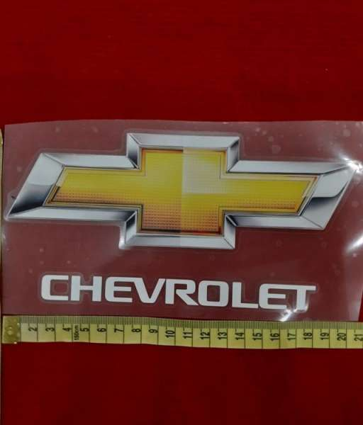 Decal black Chevrolet sponsor logo european version