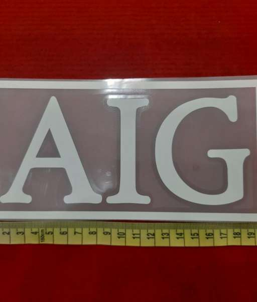 Decal white AIG sponsor logo European version