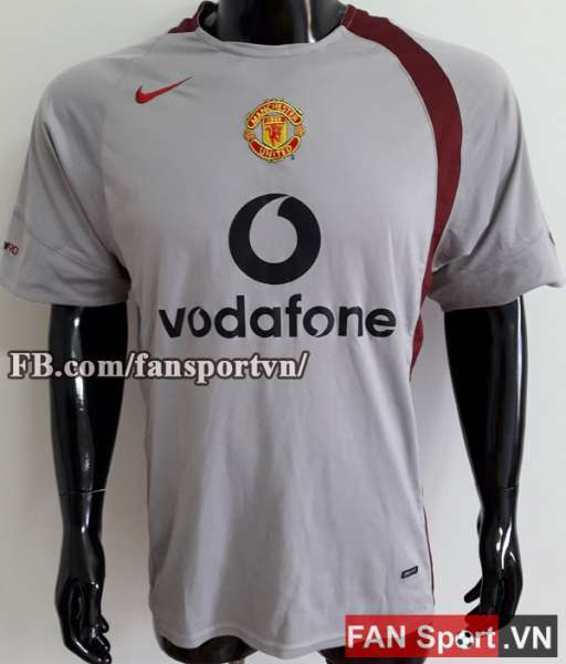 Áo tập Manchester United 2004-2005 training shirt jersey grey