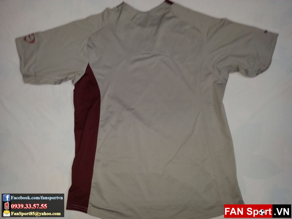 Áo tập Manchester United 2004-2005 training shirt jersey grey