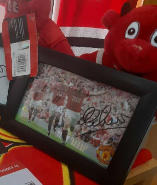 Ảnh chữ ký Michael Owen Manchester United sign photo
