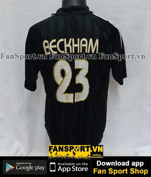 Áo đấu Beckham #23 Real Madrid 2002-2003 away shirt jersey black