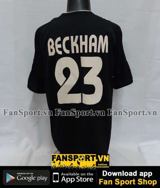Áo đấu Beckham #23 Real Madrid 2003-2004 away shirt jersey grey