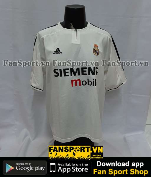 Áo đấu Beckham #23 Real Madrid 2003-2004 home shirt jersey white