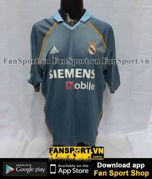 Áo đấu Beckham #23 Real Madrid 2003-2004 third shirt jersey grey