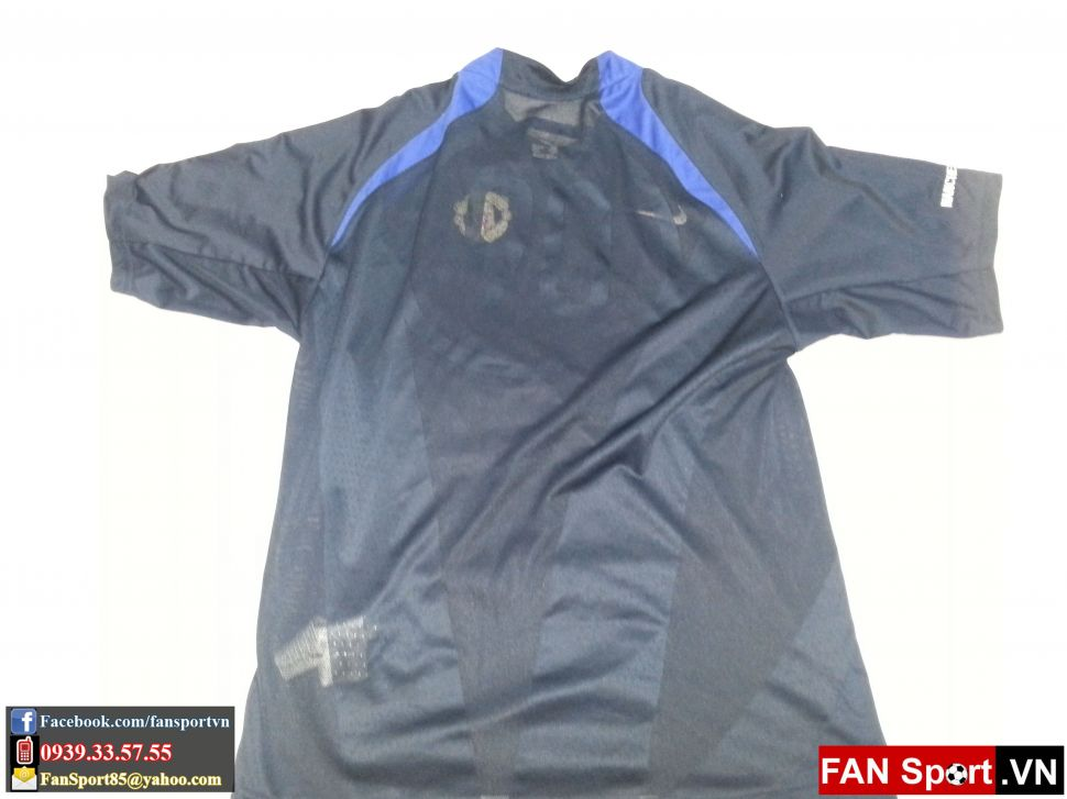 Áo tập Manchester United 2005-2006 training shirt jersey blue