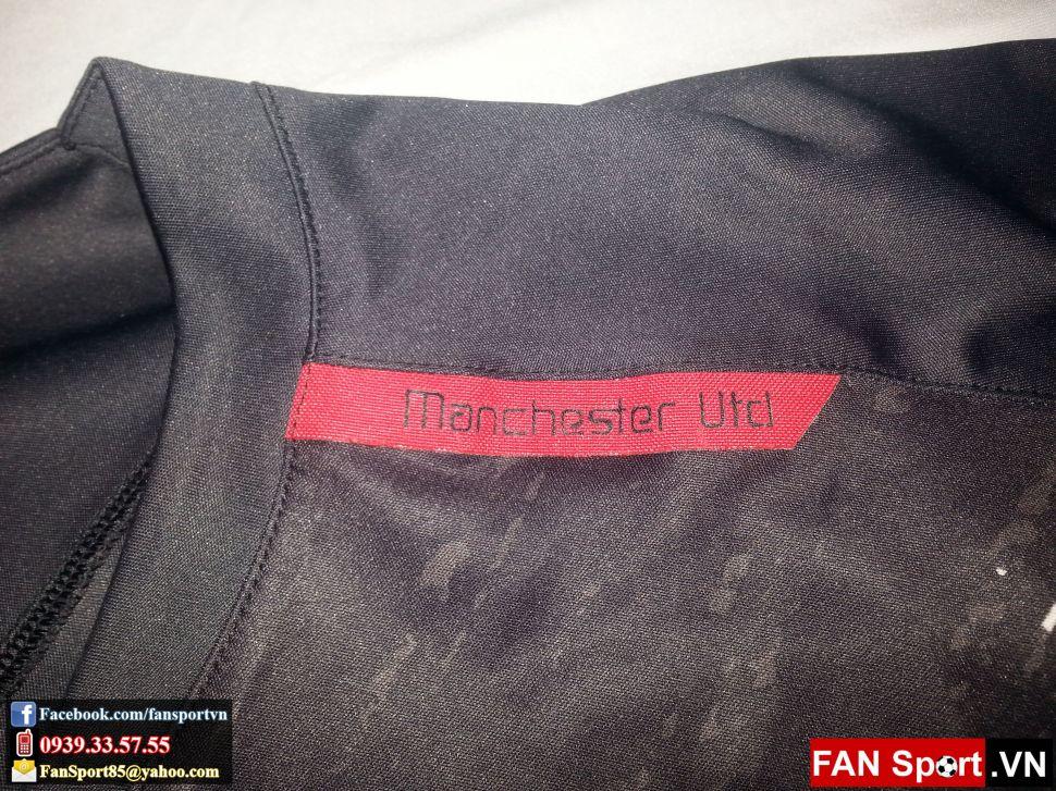 Áo tập Manchester United 2007-2008 training shirt jersey black