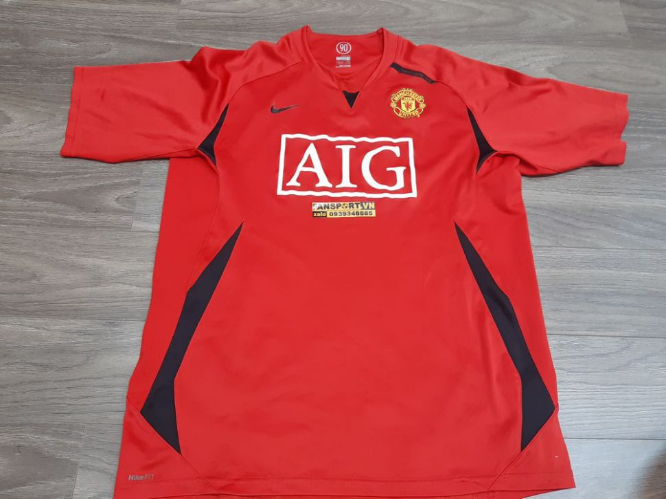 Áo tập Manchester United 2007-2008 training shirt jersey red
