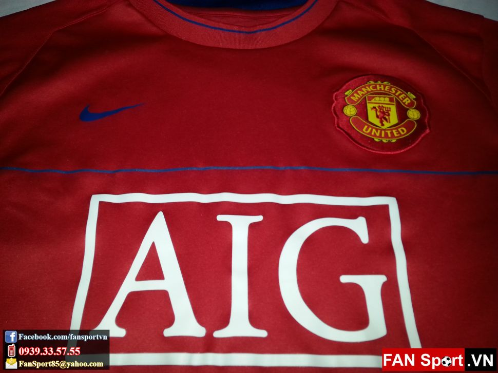 Áo tập Manchester United 2008-2009 training shirt jersey red