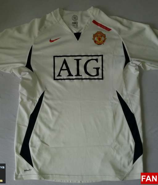 Áo tập Manchester United 2008-2009 training shirt jersey white