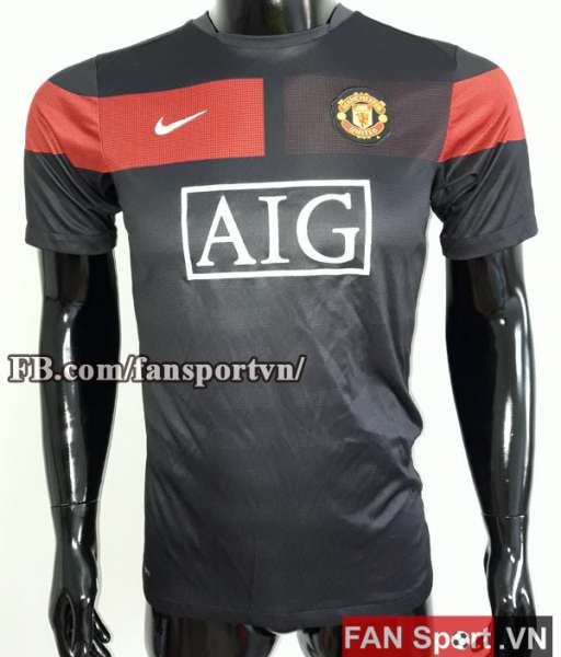 Áo tập Manchester United 2009-2010 training shirt jersey black